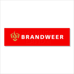 Brandweer bordjes of stickers