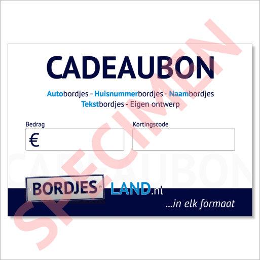 Cadeaubon Bordjesland