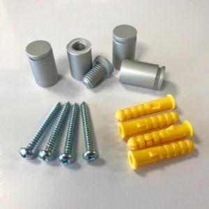 Aluminium afstandhouders met linkse draad 13x19mm - set van 4 stuks