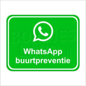 Whatsapp buurtpreventie sticker (voor in de straat)