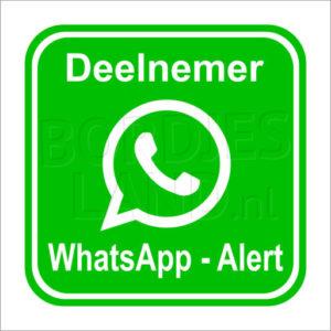 Whatsapp buurtpreventie sticker (deelnemer)