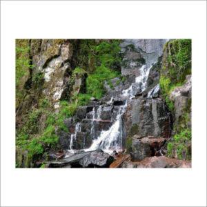 Tuinposter cascade du nideck, een waterval in Frankrijk.